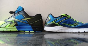 Although the sole near the heel is about the same verus the Kinvara 3 the ONE is way taller.